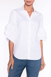 Lily Moss White Bell Sleeve Blouse - Product Mini Image