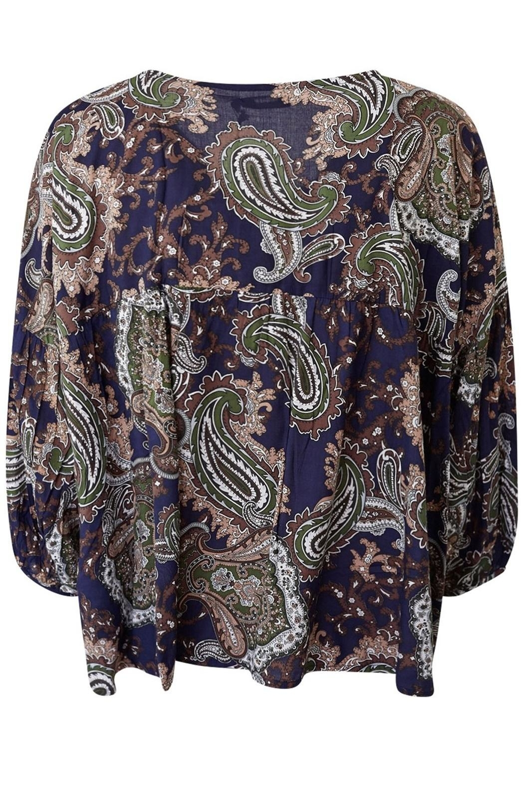 LILYA Elson Paisley Top - Back Cropped Image