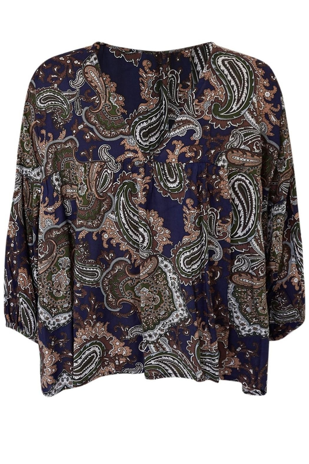 LILYA Elson Paisley Top - Side Cropped Image