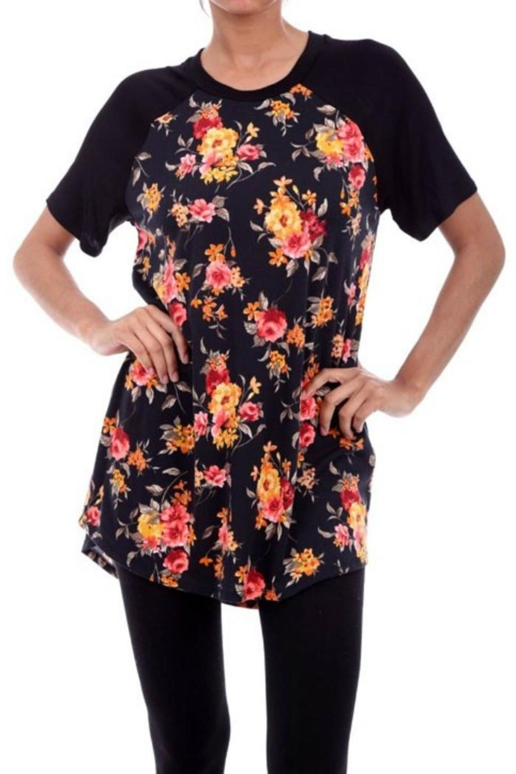 lilypad floral body top from texas by chili peppers shoptiques. Black Bedroom Furniture Sets. Home Design Ideas