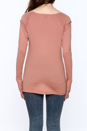 Lime & Vine Salmon Tunic Top - Back cropped