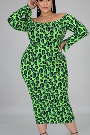 Goodtimes lime bodycon - Front cropped