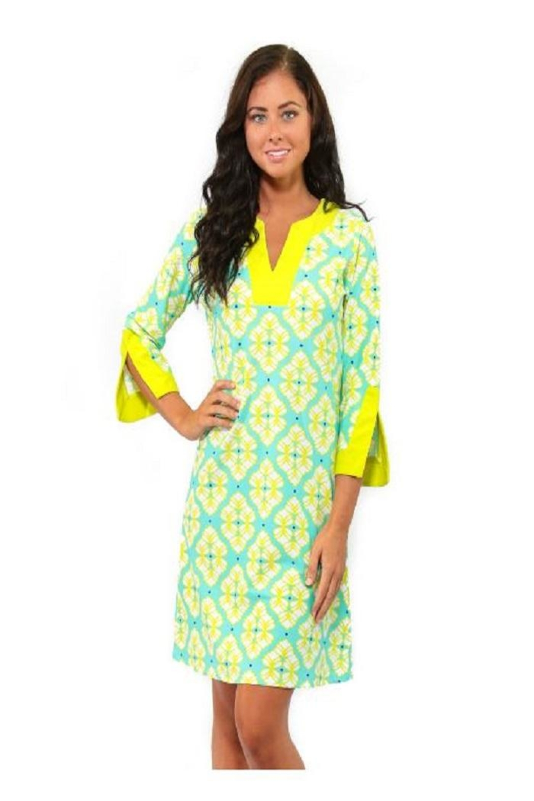 All For Color Lime Prescot Dress - Main Image