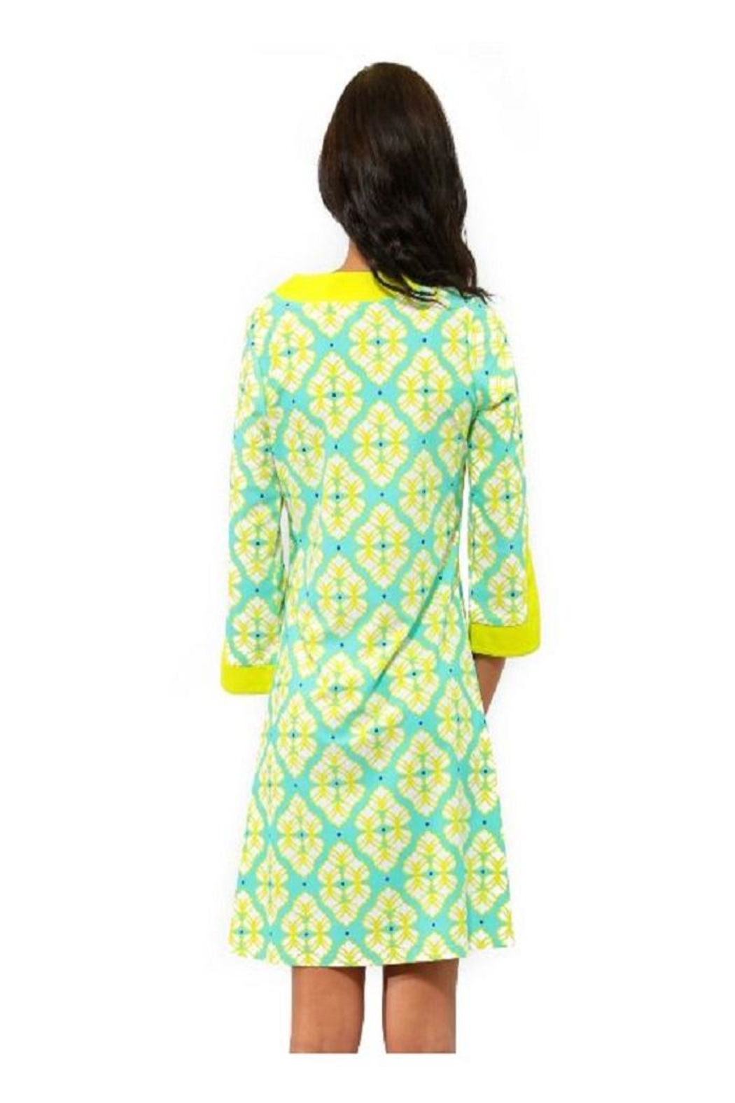 All For Color Lime Prescot Dress - Front Full Image