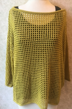 Alison Sheri Lime pullover sweater - Product List Image