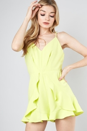 Do & Be Lime Ruffle Romper - Product Mini Image