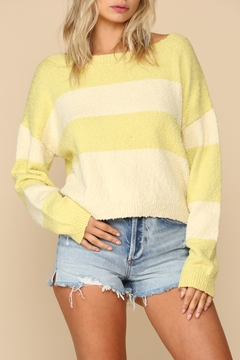 Blank Paige Lime Stripe Sweater - Product List Image