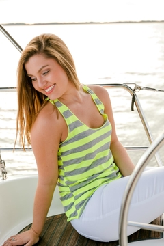 Heart & Hips Lime Stripe Tank - Product List Image