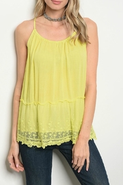 Hayden Lime Tank Top - Product Mini Image
