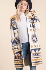 Lime n Chili Aztec Bohemian Tribal Multi Color Long Sleeve Knit Cardigan - Side cropped