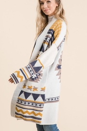 Lime n Chili Aztec Tribal Pattern Jacquard Long Sleeve Sweater Knit Cardigan - Other