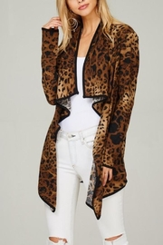 Lime n Chili Cheetah Print Cardigan - Product Mini Image
