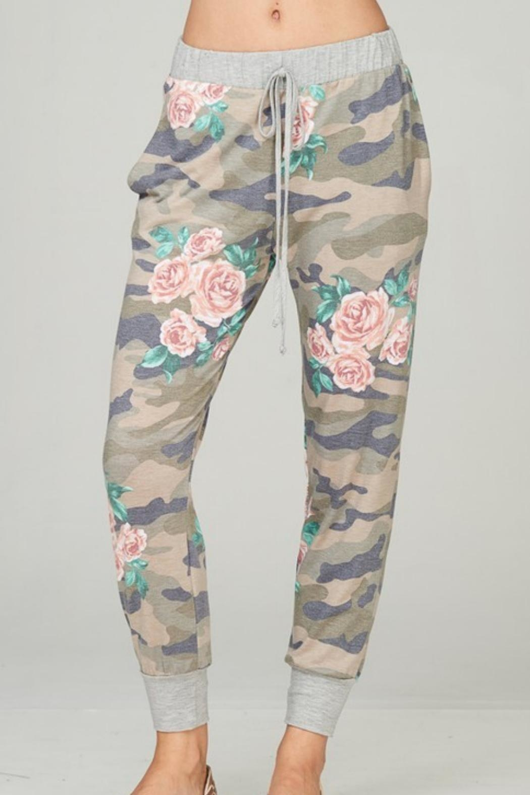 Lime n Chili Floral Camouflage Loungpants - Main Image