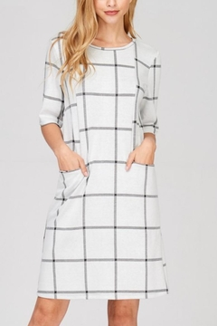 Shoptiques Product: Windowpane Plaid-Knit Dress