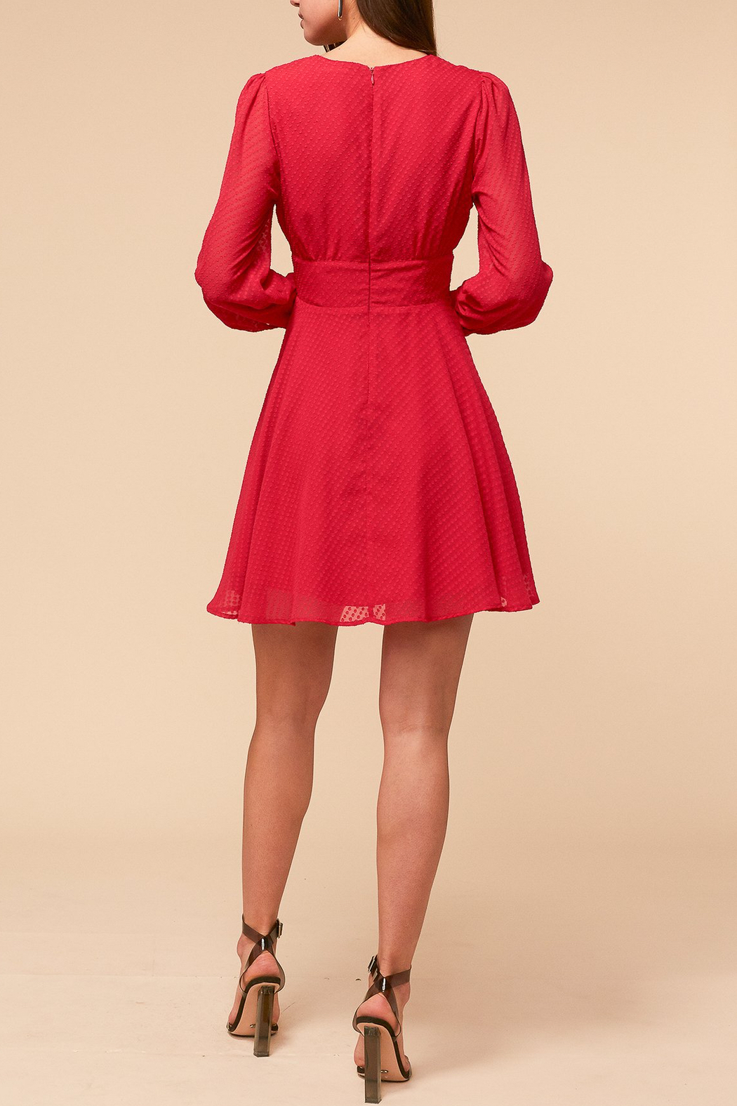 Adelyn Rae Lina Fit and Flare Dress - Front Full Image