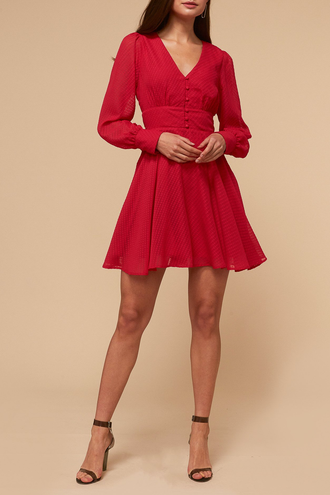 Adelyn Rae Lina Fit and Flare Dress - Main Image