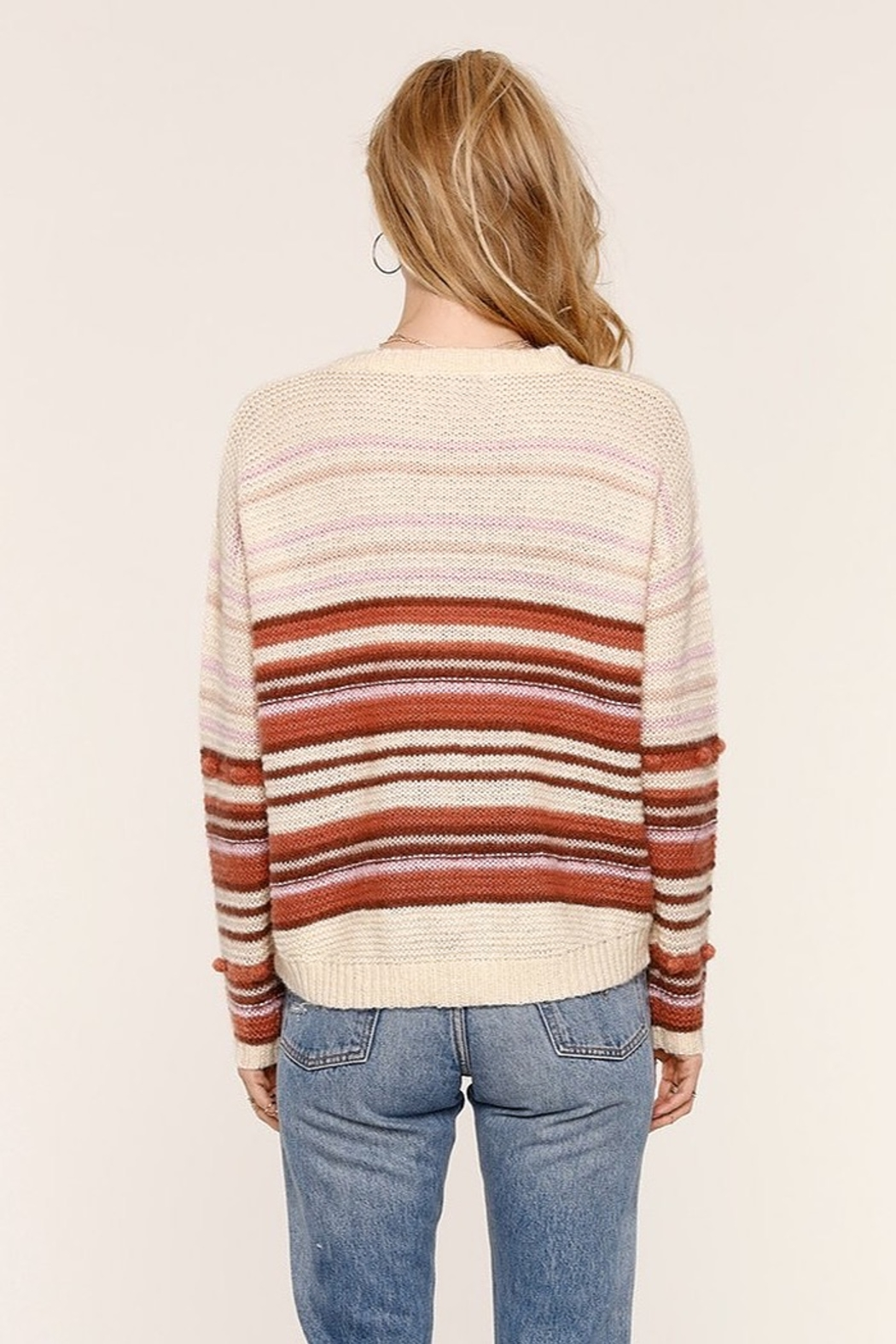 Heartloom Lincoln Stripe Sweater - Side Cropped Image