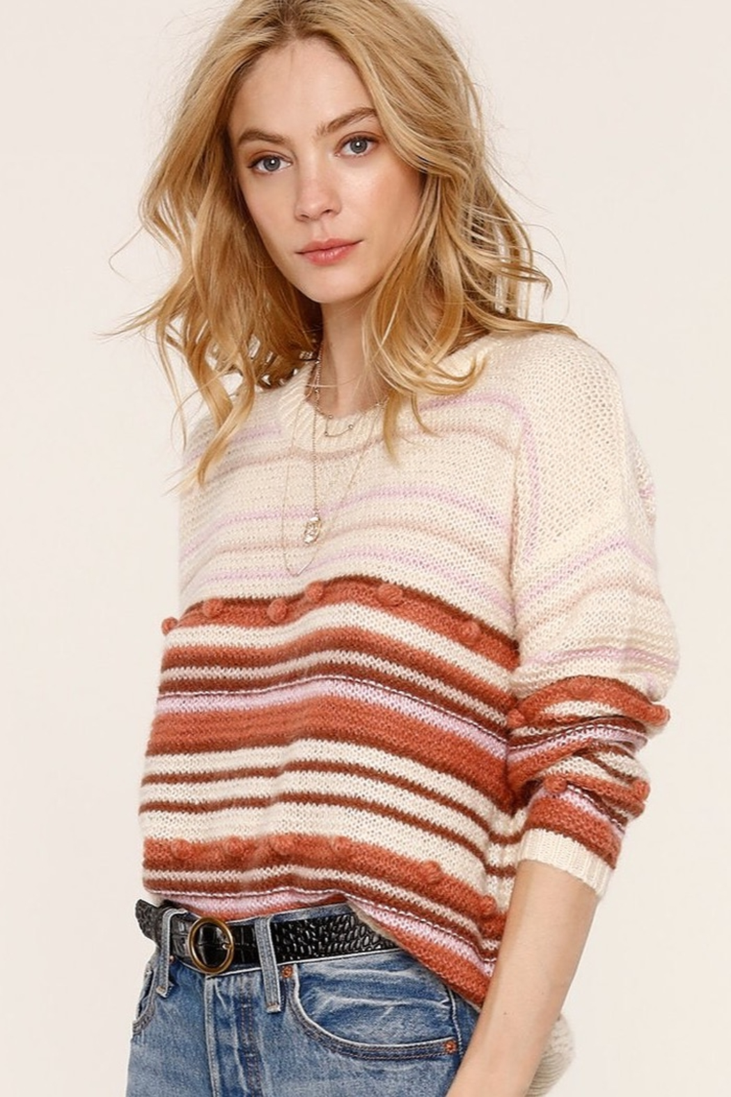Heartloom Lincoln Stripe Sweater - Front Full Image
