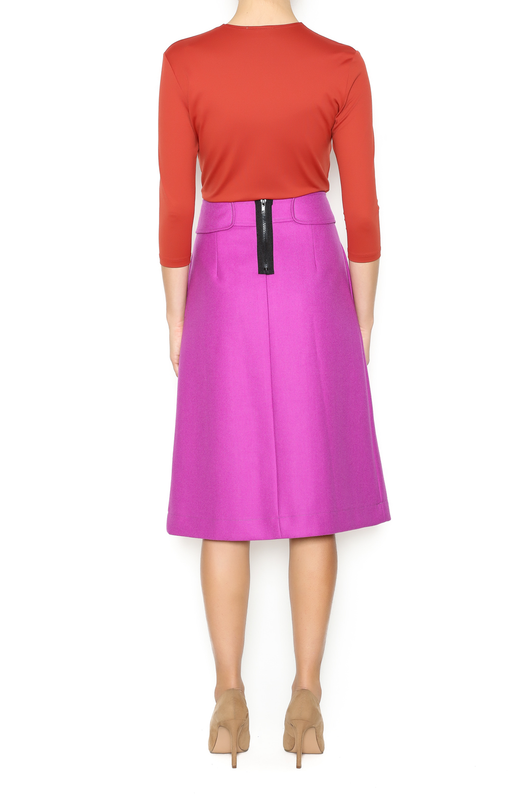 Linda Leal Three-Quarter Fitted Shirt - Side Cropped Image