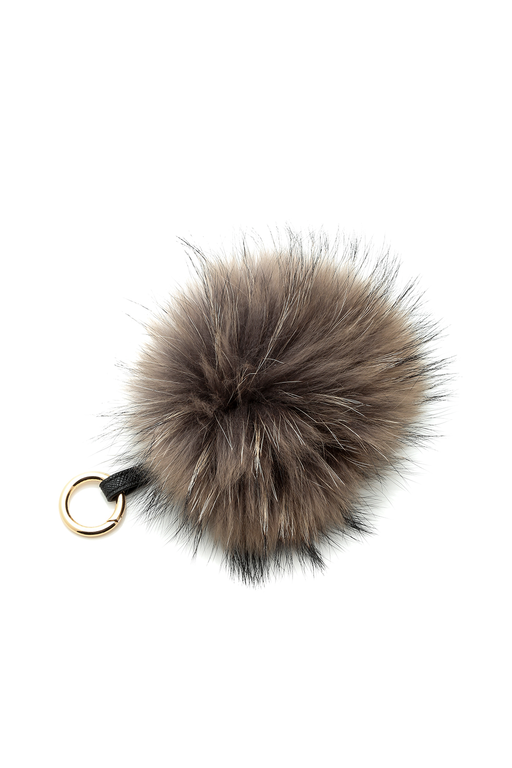 Linda Richards Fur Ball Keychain - Front Cropped Image