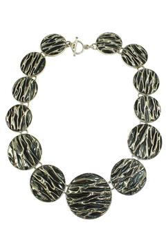 Linda de Taxco Corrugated Circle Necklace - Product List Image