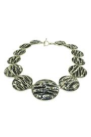 Linda de Taxco Corrugated Circle Necklace - Front full body