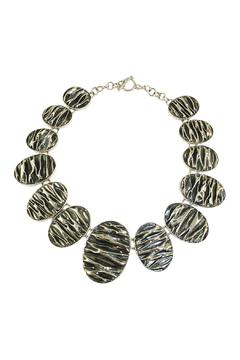 Shoptiques Product: Corrugated Oval Necklace