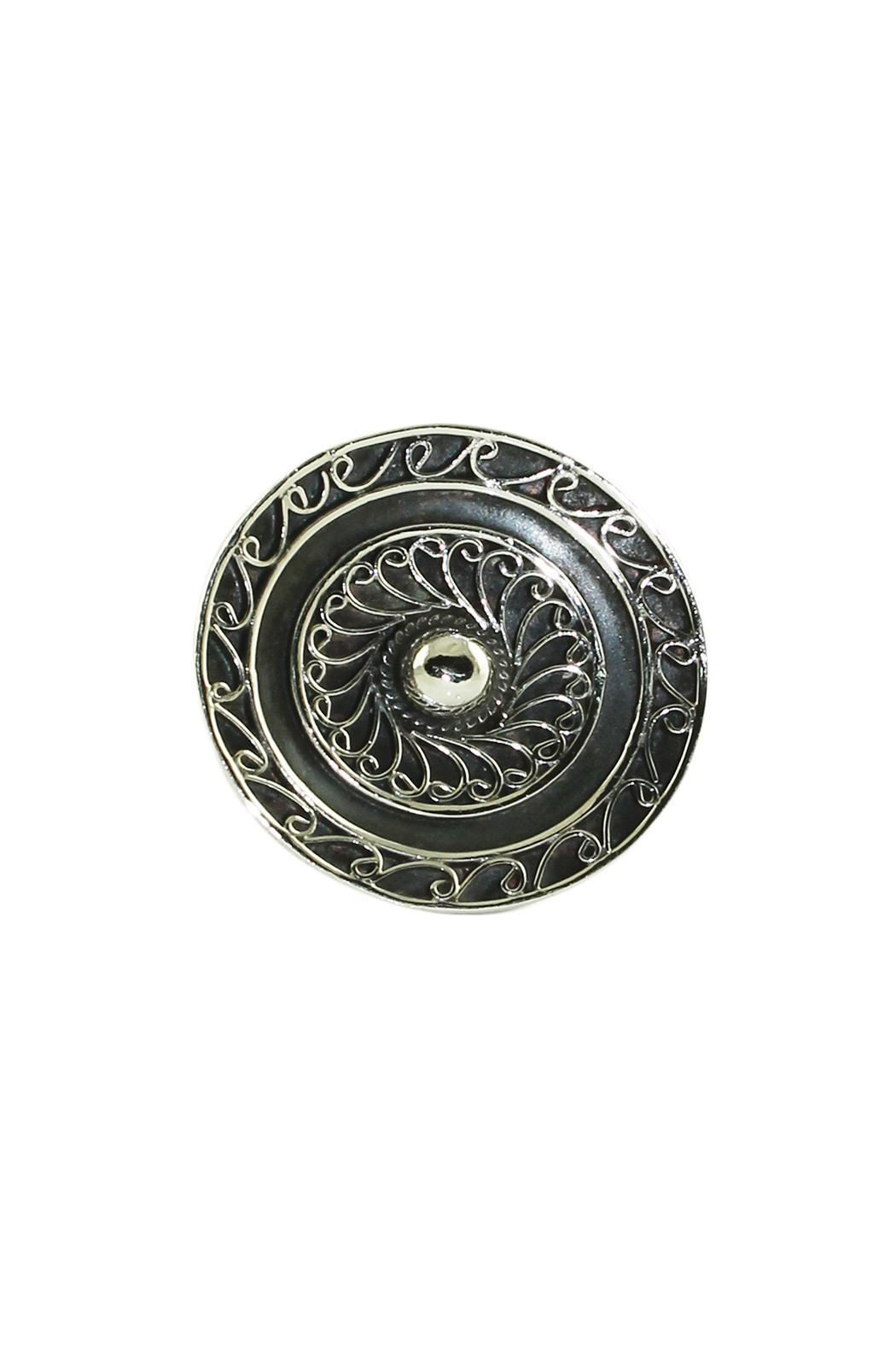Linda de Taxco Round Silver Ring - Front Full Image