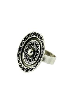 Linda de Taxco Round Silver Ring - Product List Image