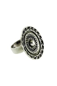 Linda de Taxco Round Silver Ring - Alternate List Image