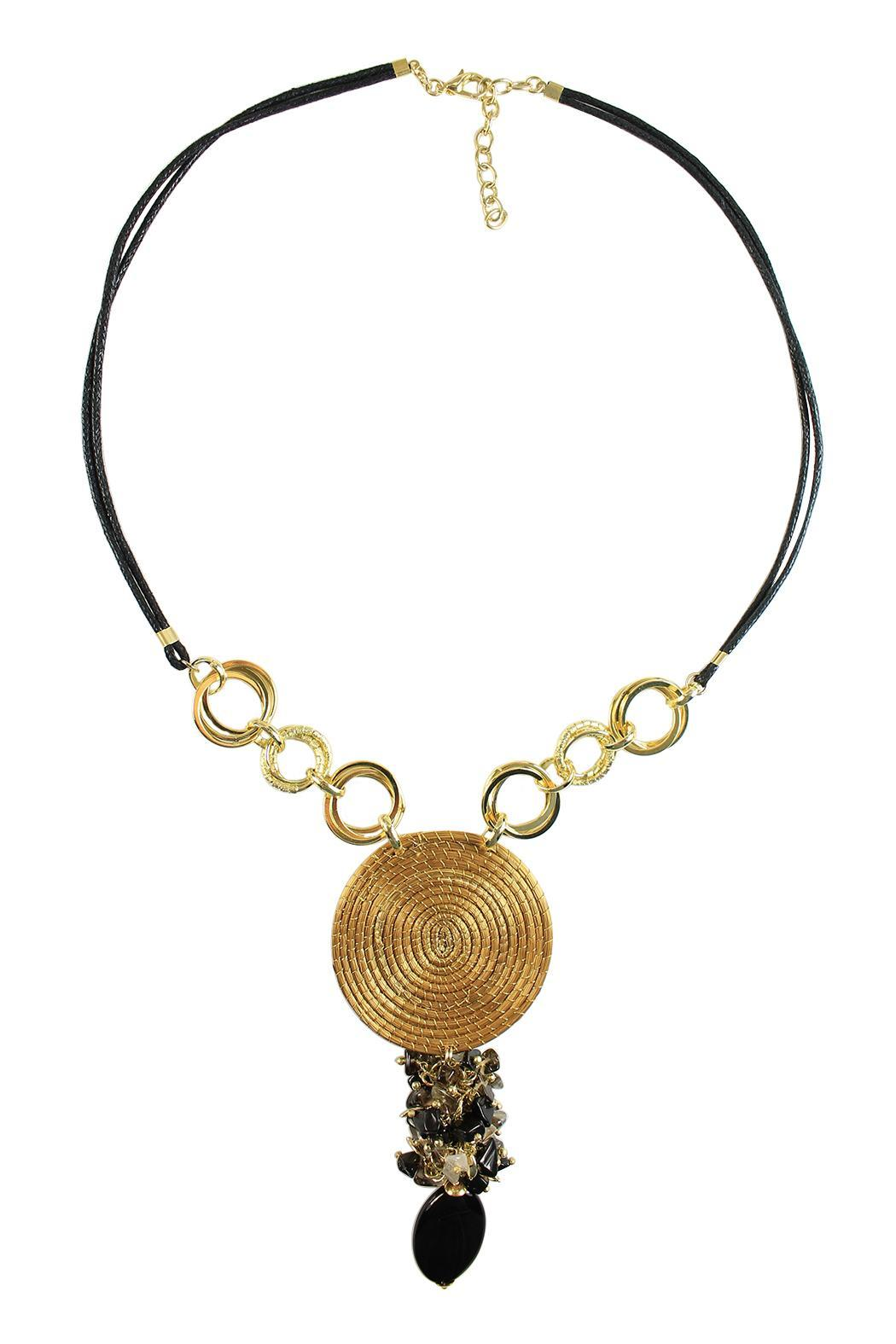 Linda de Taxco Vegetable Gold Necklace - Front Cropped Image