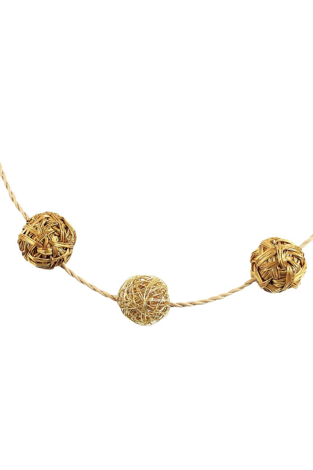 Linda de Taxco Vegetable Gold Necklace - Front Full Image