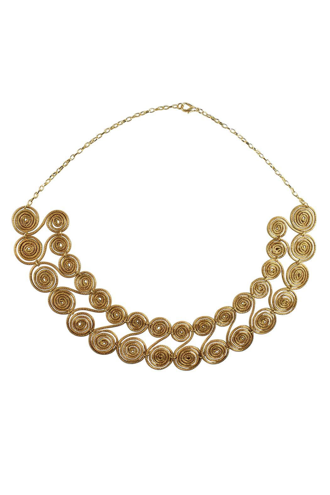Linda de Taxco Vegetable Gold Necklace - Main Image