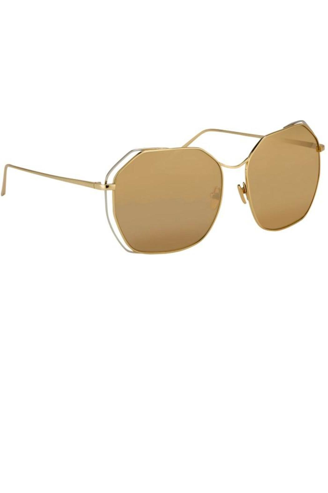 Linda Farrow Dual Wire Sunglasses - Front Cropped Image