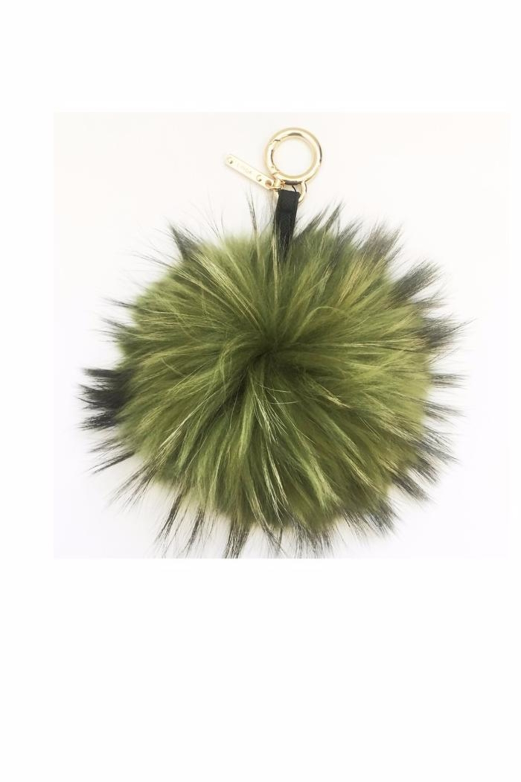 Linda Richards Fur Pom Pom Key Ring - Main Image