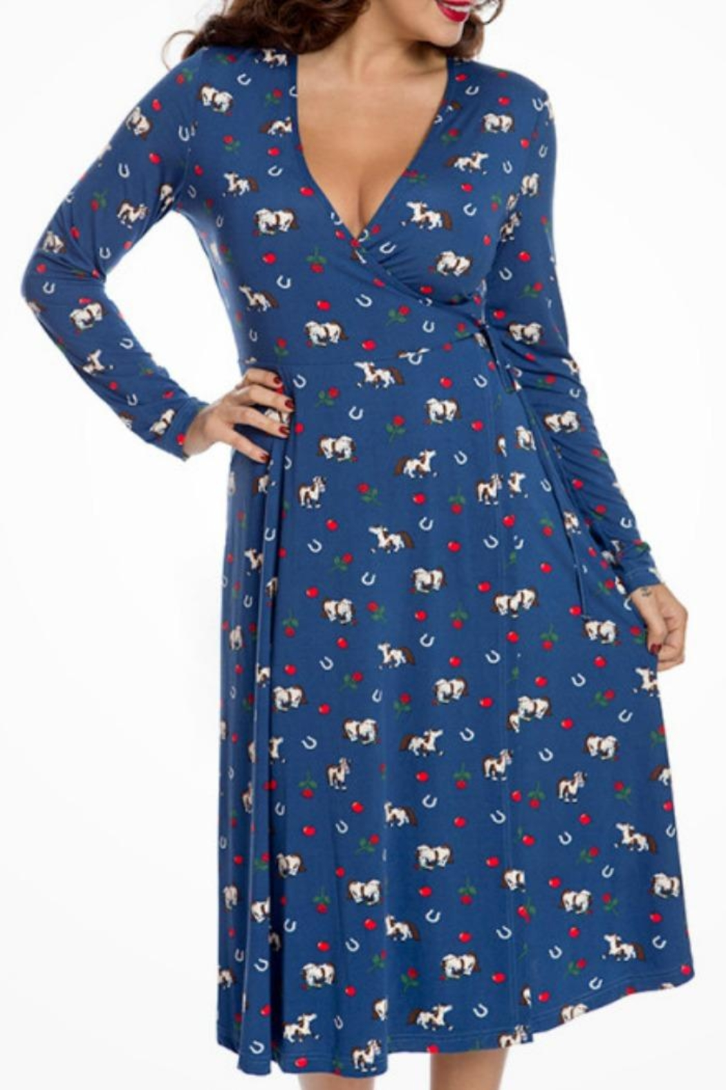 Lindy Bop Lucky Horse Dress - Front Full Image