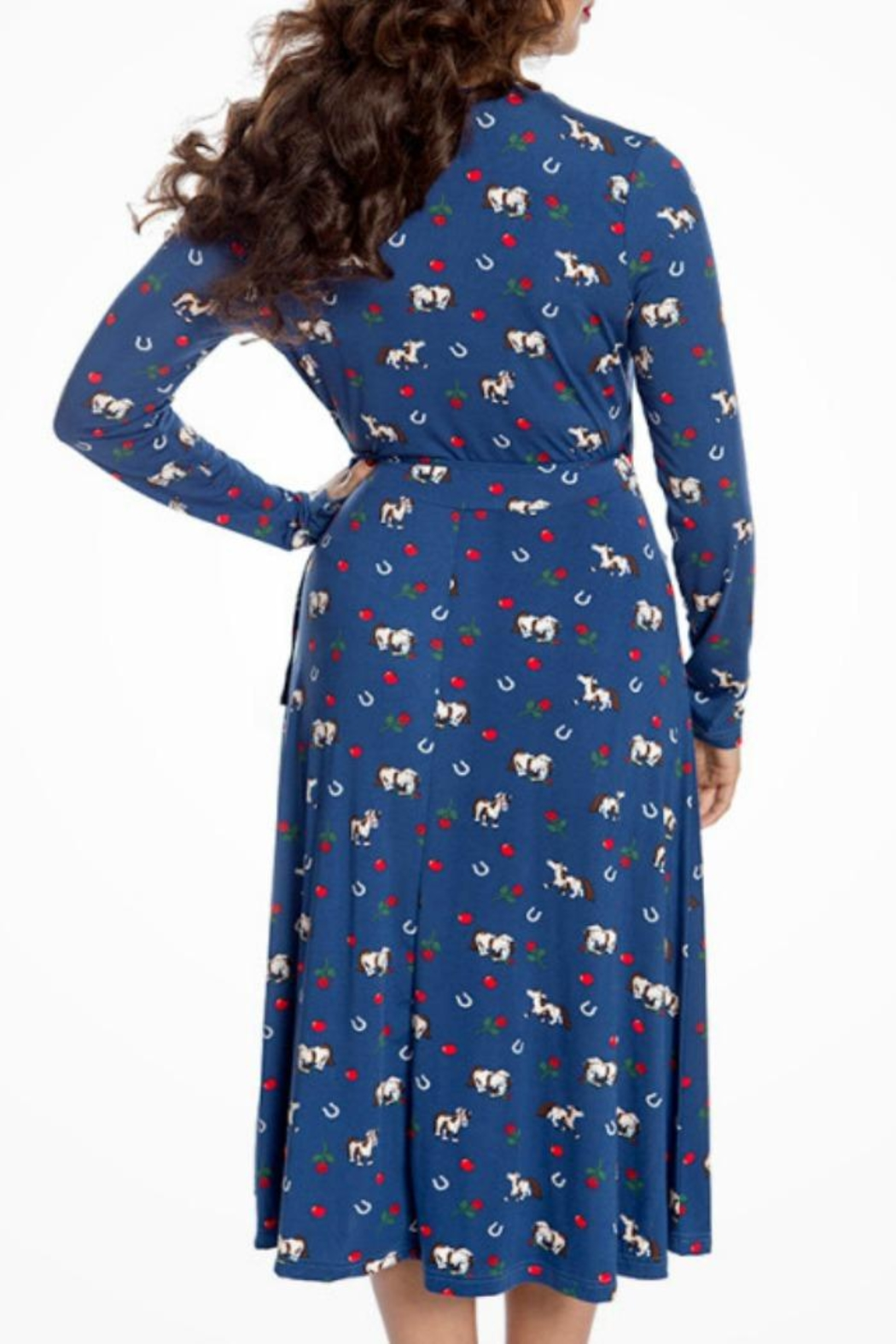 Lindy Bop Lucky Horse Dress - Side Cropped Image