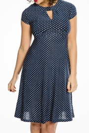 Lindy Bop Navy Polkadot Dress - Product Mini Image