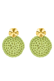Liza's Jewelry  Line Green Straw Earring - Product Mini Image