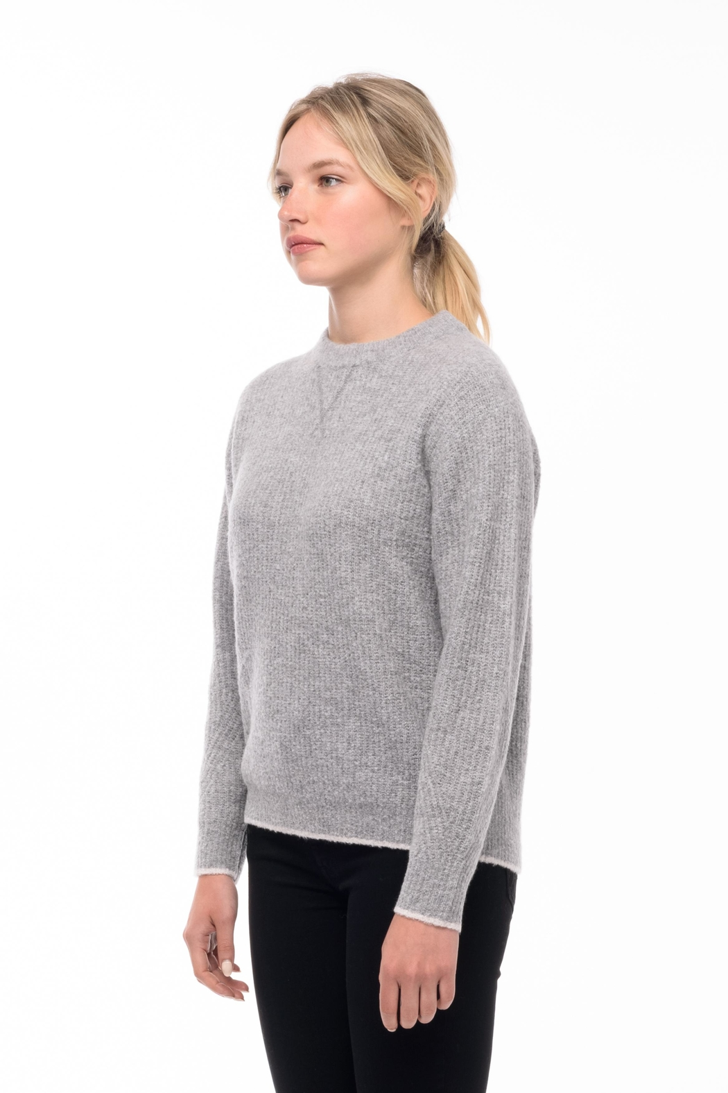 Line knitwear Andi In Quarry - Front Full Image
