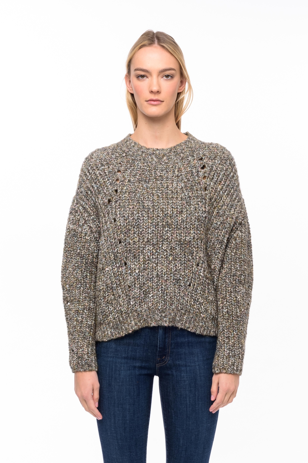 Line knitwear Daphne In Myriad - Front Cropped Image