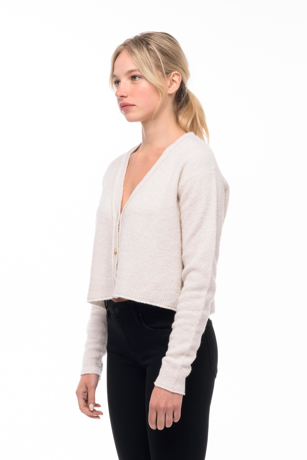 Line knitwear Edie Knit Cardigan - Front Full Image