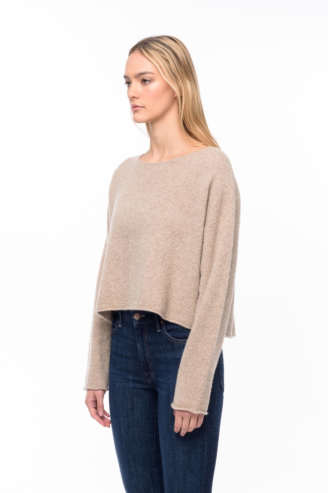 Line knitwear Leighton In Sandstone - Front Full Image