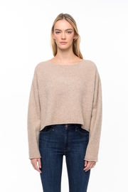 Line knitwear Leighton In Sandstone - Product Mini Image