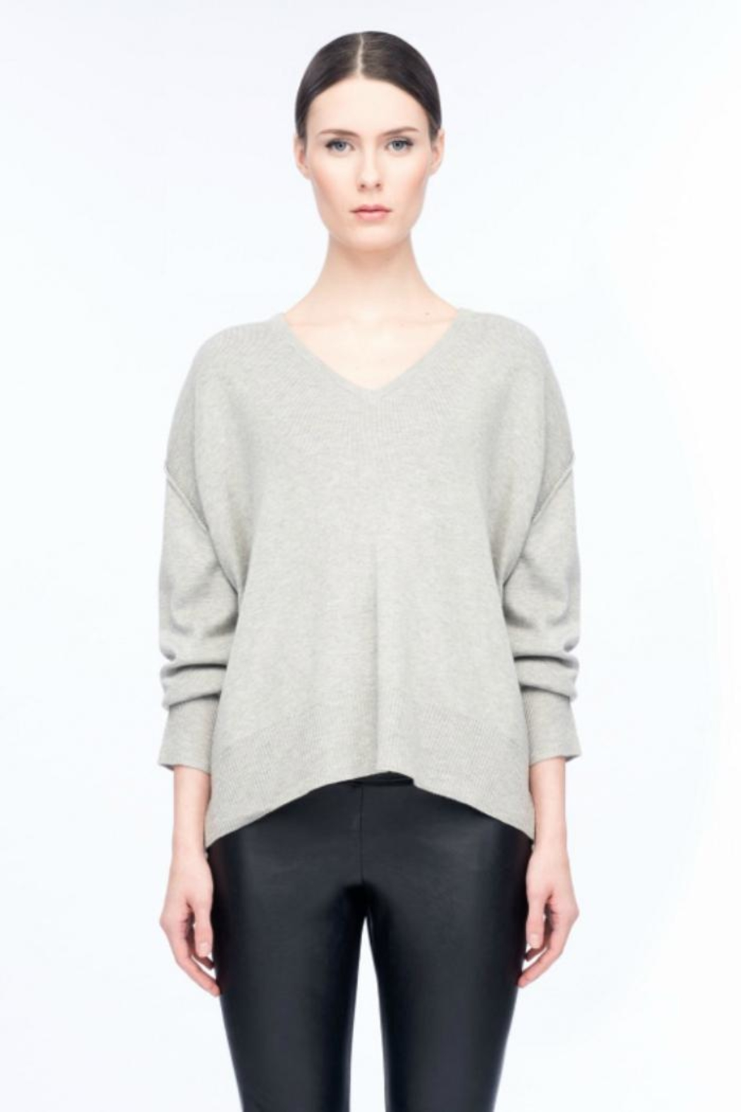 Line knitwear Morgan V-Neck Sweater - Front Cropped Image