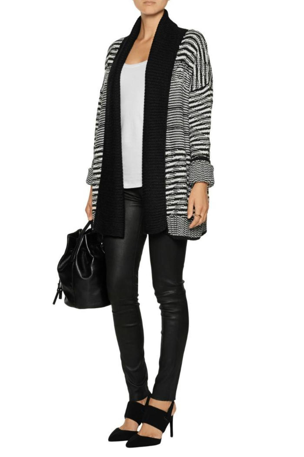 Line knitwear Renie Long Cardigan - Front Cropped Image