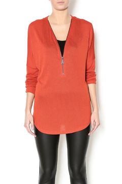 Shoptiques Product: Orange Zipper Top