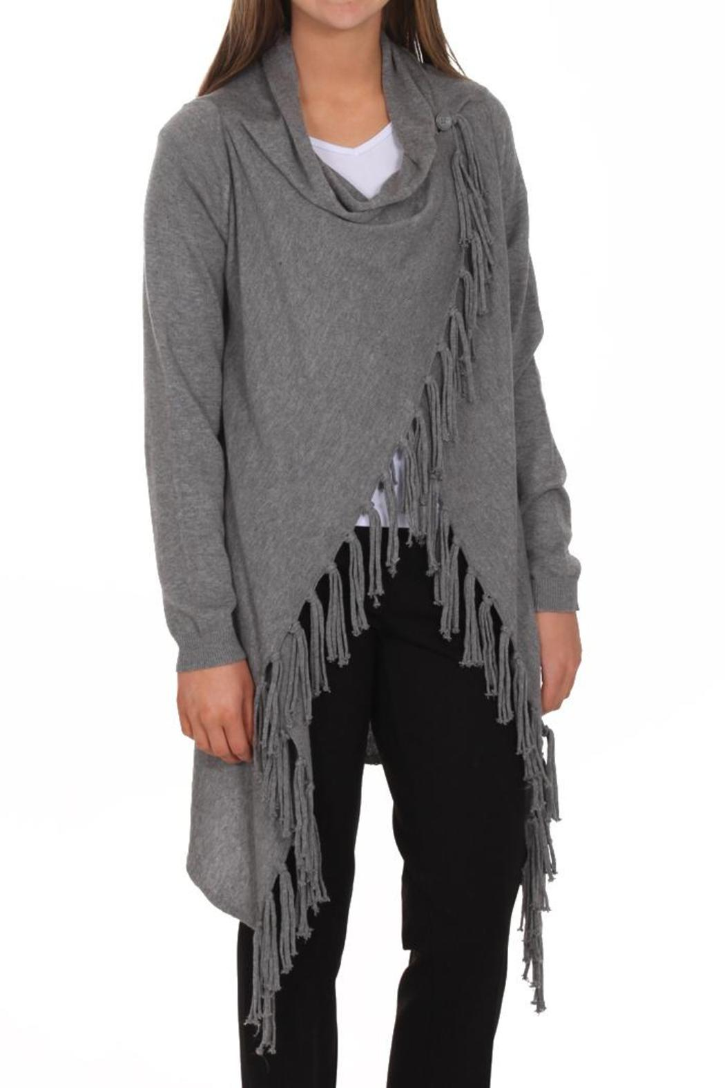 Linea Domani Grey Fringe Sweater from Iowa by Shabby & Chic, LLC ...