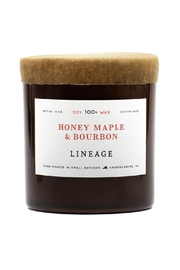 Lineage Maple & Bourbon Candle - Front cropped