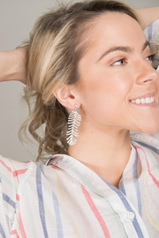 Saachi Linear Earring - Front full body